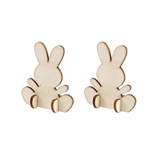Amosfun 10pcs Cute Easter Birthday Gift Easter Rabbit