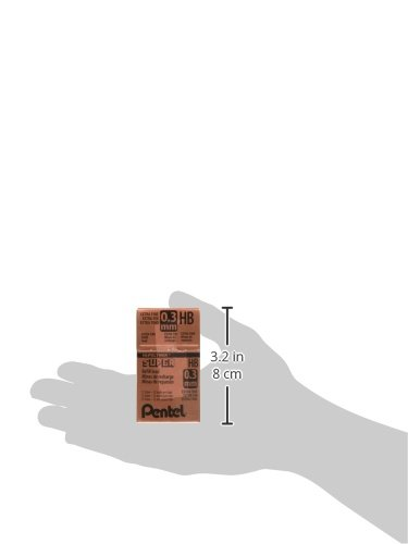 Pentel Super Hi-Polymer Lead, 0.3mm, HB, Box of 12 Tubes (300-HB) by Pentel (Image #5)