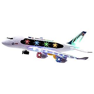 Toysery Airplane Toys for Boys, Airbus A388 Model Airplane, Toy Airplane for Kids with Flash Lights, Robust Toy Plane Kids Toys for 3 Year Old Boys and Girls, Modern Outdoor Toys with Real Jet Sound