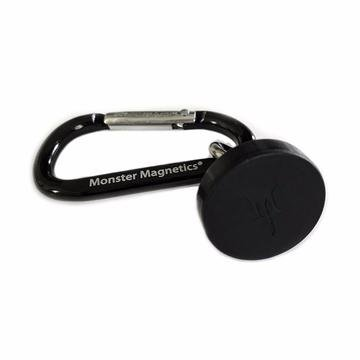 Single Magnetic Base With Carabiner Attachment and Protective Rubber Cap - Hang Anything From Any Metal Surface Without Worrying About Scratches!