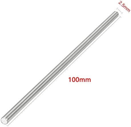 Stainless Steel Shaft Round Rod 100mmx1.5mm for DIY Toy RC Car Model Part 6Pcs
