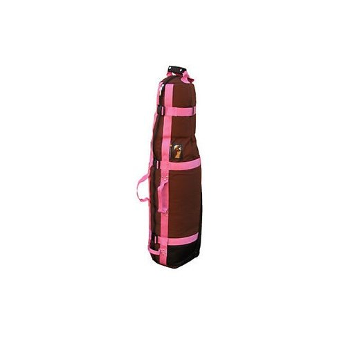 Club Glove Last Bag Collegiate Golf Travel Cover (Mocha/Pink) by Club Glove