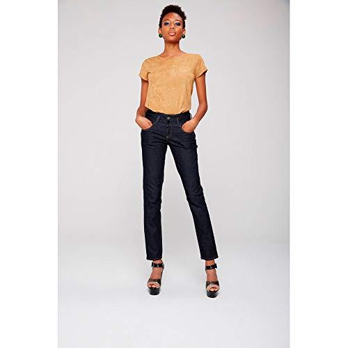 8c2282e4da Calça Jeans Cigarrete Azul Escura Tam  46   Cor  BLUE BLACK