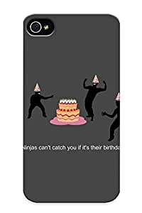 New Ninjas Can Catch You If It Your Birthday Tpu Case Cover, Anti-scratch UqRCdrs2148BOXwf Phone Case For Iphone 4/4s With Design