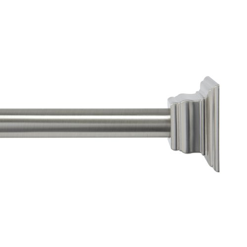 BINO 'Chateau' Shower Curtain Tension Rod, Brushed Nickel cheap