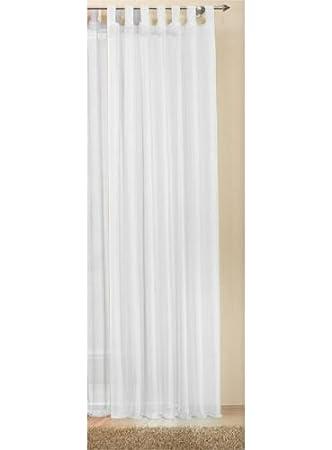 Amazon.de: Schlaufenschal Gardine uni transparent Voile, 225x140