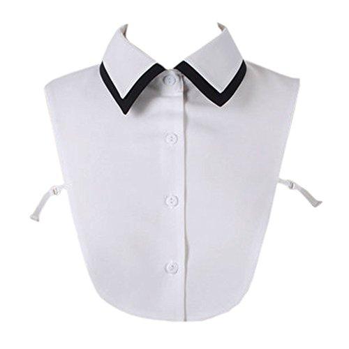 Joyci New Fashion Professional Fake Collar Classic Black White Half Shirt False Collar (White)