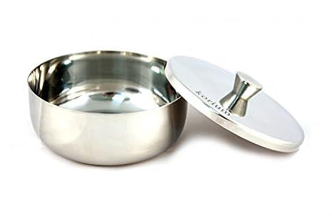 korium Cuenco de afeitar de acero inoxidable con tapa