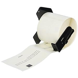 "Brother Printer Adhesive Name Badge Die Cut, 2.3"" x 3.4"", 60mm x 86mm (DK1234)"