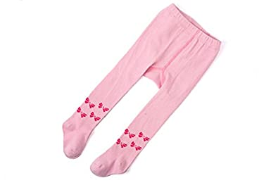 TAIYCYXGAN Baby Girls 0-4T Infant Tights Butterfly Legging Pants 5 Pack Stockings