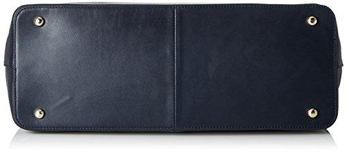 Tommy Hilfiger Th Twist Leather Tote - Borse a spalla Donna, Blau (Tommy Navy), 0.1x0.1x0.1 cm (B x H T)