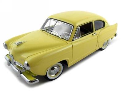 1951 Kaiser Henry J Platinum Diecast Car Yellow 1:18