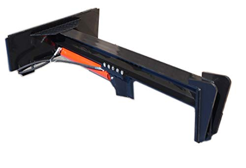 Skid Steer Log Splitter: Long 30″ Stroke, Inverted 25 Ton w/Hoses & Quick Connects