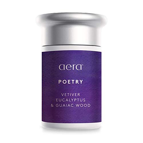 Poetry Scented Home Fragrance, Hypoallergenic Formula With Notes of Vetiver, Eucalyptus, Woods - Schedule Using App With Aera Smart 2.0 Diffusers - State Of The Art Air Freshener Technology