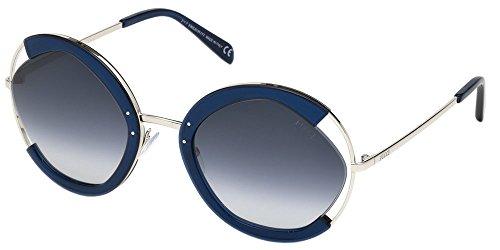 Lunettes de Soleil Emilio Pucci EP0073 SHINY BLUE/BLUE SHADED femme