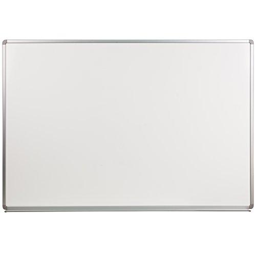 Whiteboard Magnetic Porcelain Steel (Flash Furniture 6' W x 4' H Porcelain Magnetic Marker Board)