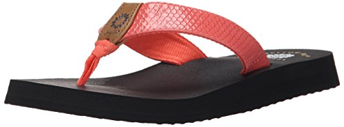 Yellow Box Women's Bountiful Flip Flop, Coral, 7.5 M US