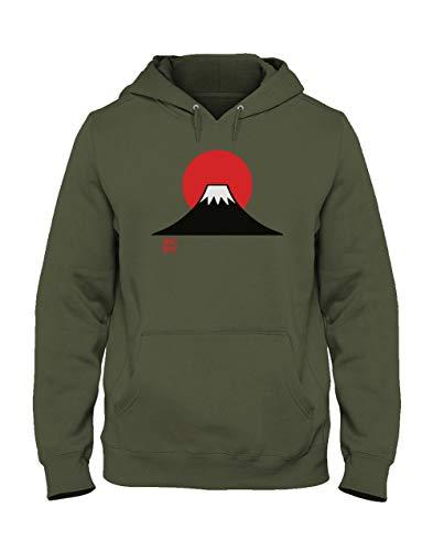 Homme Mont Sweatshirt Fuji Army Kaki Green Capuche Japon shirts T Turtle 8xwq71S