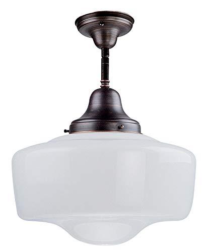 (DVI DVP7511ORB Schoolhouse Semi Flush Ceiling Light)