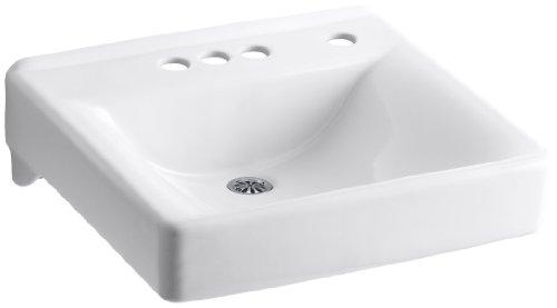 KOHLER K-2054-NR-0 Soho Wall-Mount Bathroom Sink with 4