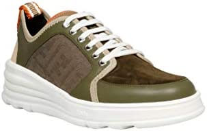 FENDI Luxury Fashion Homme 7E1345AAWYF19NY Vert Cuir Baskets | Printemps-été 20