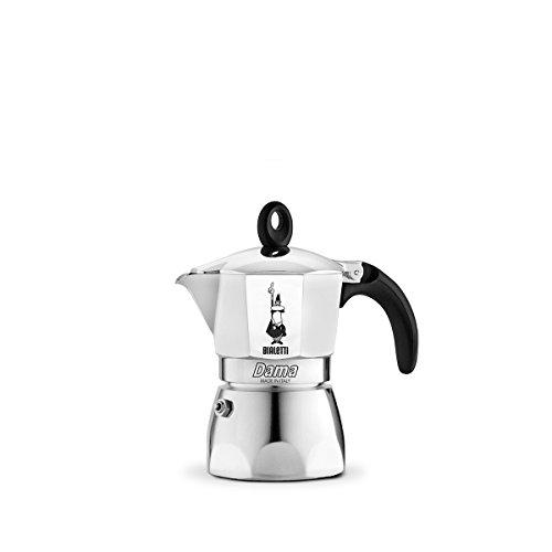 Bialetti Moka Dama, Cafetera Italiana Espresso, Aluminio, 2 Tazas