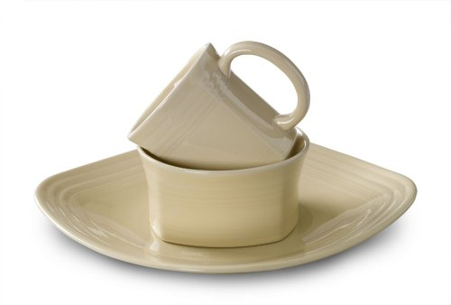 Fiesta 3-Piece Square Place Setting, Ivory (Dishes Fiesta Square)