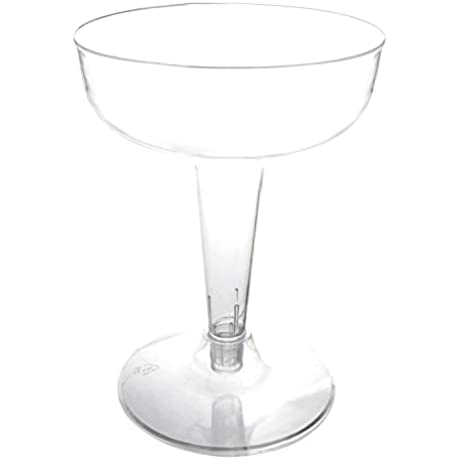 Party Essentials CHAMP4 10 40 Hard Plastic 2 Piece Champagne Glass 4 Ounce Capacity Clear Case Of 400