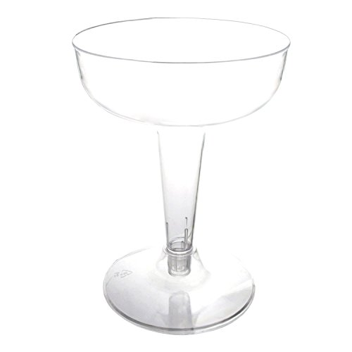 Party Essentials CHAMP4-10 40 Hard Plastic 2-Piece Champagne Glass, 4-Ounce Capacity, Clear Case of 400