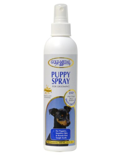 Gold Medal Pets Puppy Grooming Spray for Sensitive Skin, 8-Ounce by Gold Medal Pets