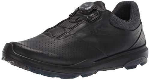ECCO Men's Biom Hybrid 3 Boa Gore-Tex Golf Shoe, Black Yak Leather, 39 M EU (5-5.5 US)