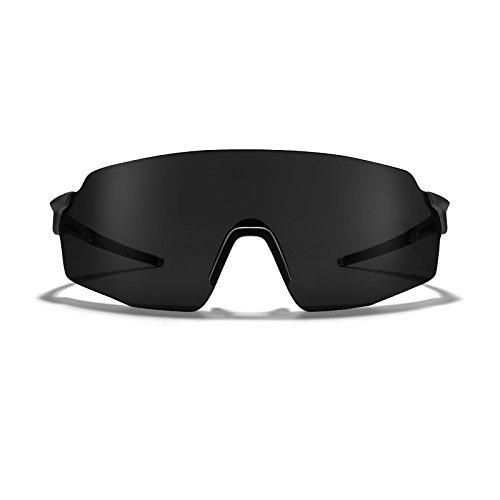 ROKA SL-1x APEX Advanced Sports Performance Sunglasses for Men and Women - Matte Black Frame - Carbon ()