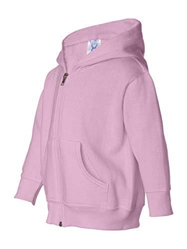 Toddler Full-Zip Hoodie, Pink - Size - Rabbit Skins Sweatshirt Toddler
