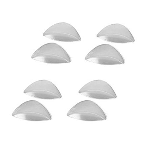 PIXNOR Transparent Silicone Adhesive Arch Support Gel Insole for Flat Feet,Set of 4