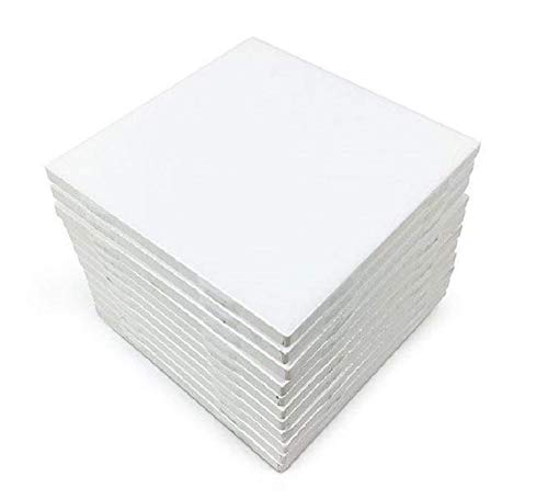(Coaster Tile Craft Kit Set of 12 Ceramic White Tiles 4