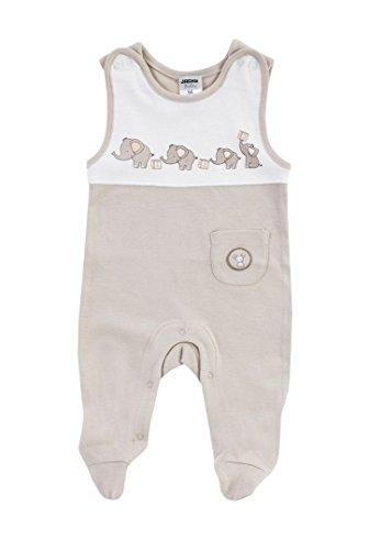 Jacky unisex Baby Strampelanzug, 100% Baumwolle, Off White/Ringelstreifen, Jacky Elephant, Gr. 68, 224102