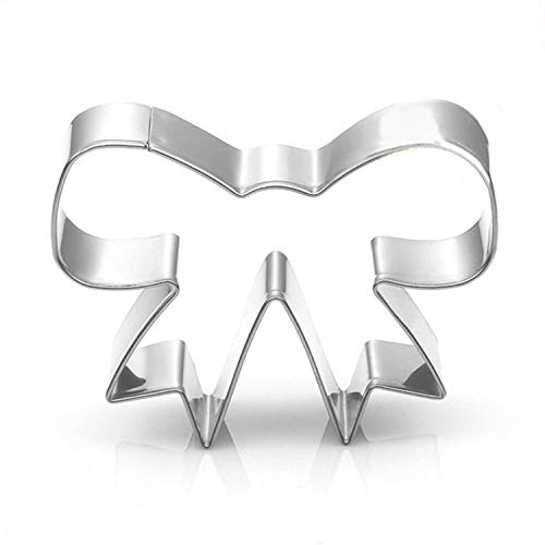 Bow Cookie Cutter - WOTOY 3.56-inch Bow-knot Biscuit Cookie Cutter - Stainless Steel