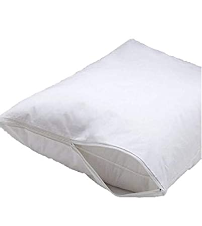 Italian Collection Deluxe Vinyl Pillow Protector with Zipper 2 Pillow Covers