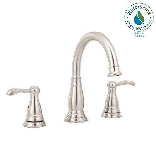 Delta Porter 8 Inch Widespread 2-Handle Bathroom Faucet Brushed Nickel 35984LF-BN-ECO (Widespread Brush)