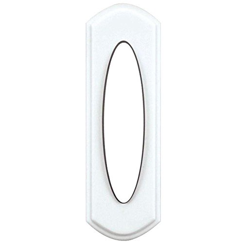 Hampton Bay Wireless Door Bell Push Button, White