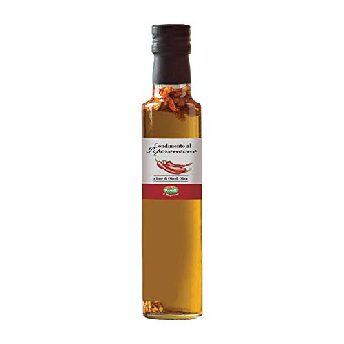 (Infused Gourmet Extra Virgin Olive Oil (Porcini, Lemon or Chili Pepper) - Gourmet Italian Oil Extra Virgin - Imported from Italy - by Serendipity Life (8.45 Oz) (Peperoncino))