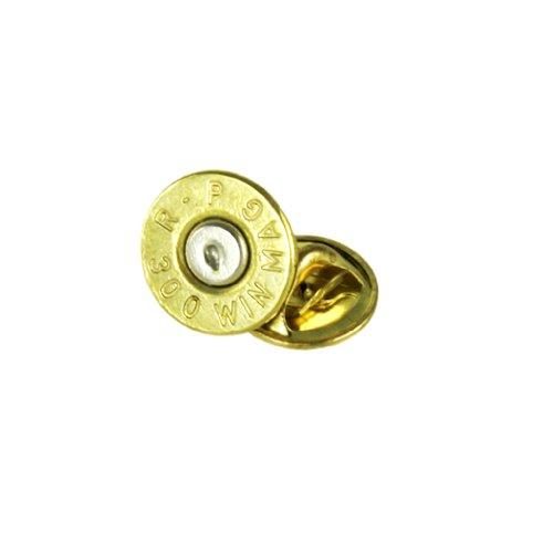 (300 Winchester Magnum Brass Bullet Tie Tac-Hat Pin)