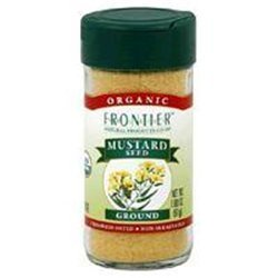 FRONTIER HERB MUSTARD SEED WHL YEL ORG, 16 OZ