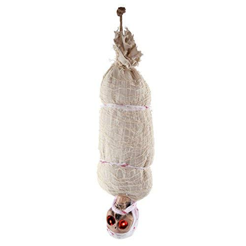 Sync Toy 35 inch Light Animated Hanging Corpse Indoor and Outdoor Halloween Decoration Prop