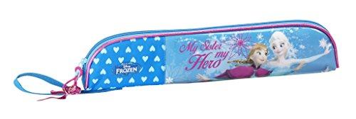 Disney Frozen - Die Eiskönigin, Elsa Anna Olaf, Flötentasche (S284), blau, 37 x 8 x 2 cm
