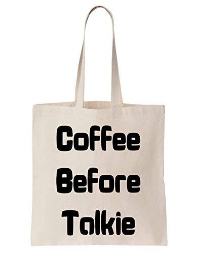 Cool Listen Talkie Fun Krissy En Coffee Crazy Family Totebag Coton Before Sac xq1wxIpEty