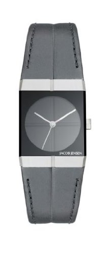 Jacob Jensen 240 Icon Series Leather Band Sapphire Crystal Women's Watch