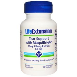 Berry Extract 60 Veggie Caps - Life Extension, Tear Support, with MaquiBright, Maqui Berry Extract, 60 mg, 30 Veggie Caps - 2pc