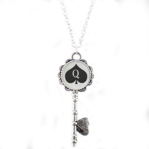 Queen of Spades Necklace Pendant Jewelry Charm Hotwife BBC Key Necklace - Religious Jewelry
