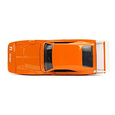 Jada Toys Big Time Muscle 1969 Dodge Charger Daytona, Orange 71, 1: 24 Scale Die-Cast Vehicle Collectible Car, 31453: Toys & Games